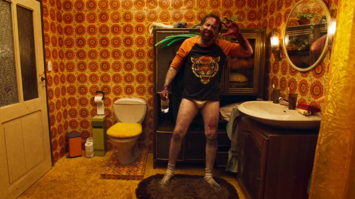 Nicolas Cage in Mandy and also in his undies