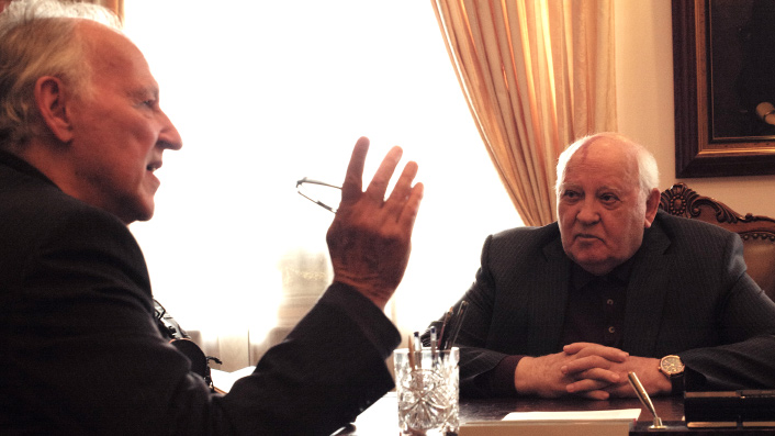 Werner Herzog interviews Mikhail Gorbachev in Meeting Gorbachev
