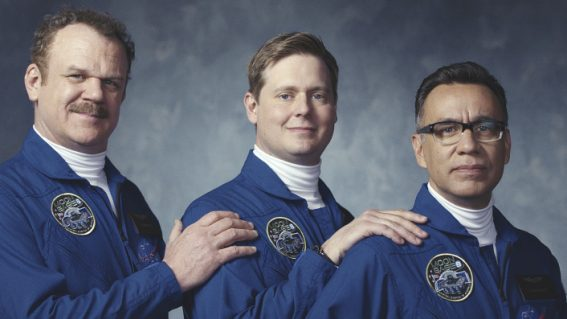 Three comedy greats try to prove their NASA chops in Moonbase 8