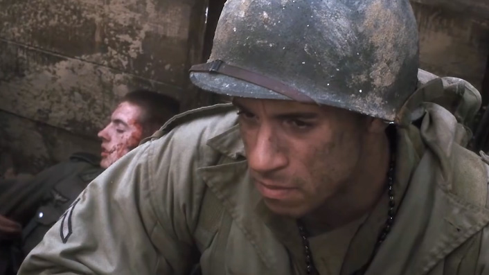 Vin Diesel in Saving Private Ryan