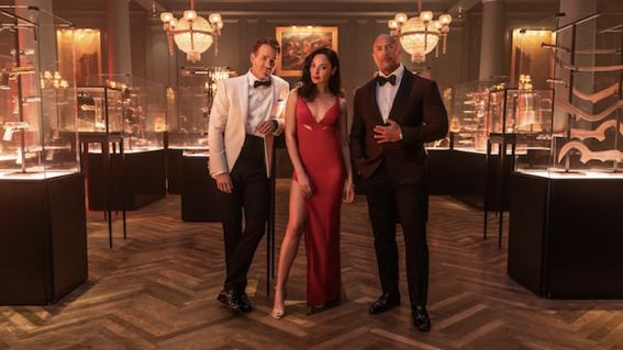 First look at Netflix's Red Notice, starring Ryan Reynolds, Gal Gadot and The Rock