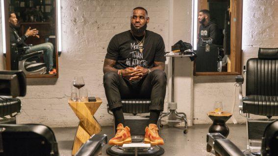 LeBron James holds court in a uniquely conversational show