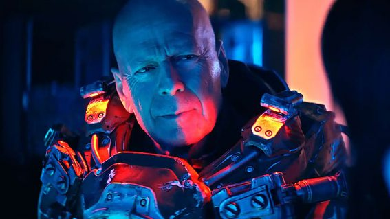 Bruce Willis struggles to stay awake in the klutzy sci-fi Cosmic Sin