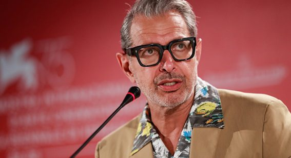 Jeff Goldblum, lobotomist, talks with Flicks at Venice Film Festival
