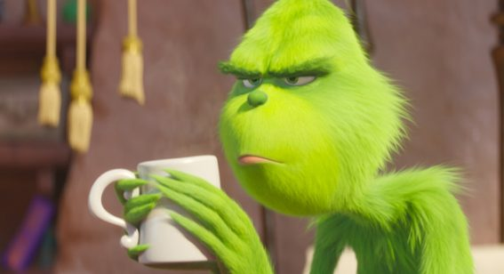 The Grinch is bright and bouncy but burdened by a pointless backstory