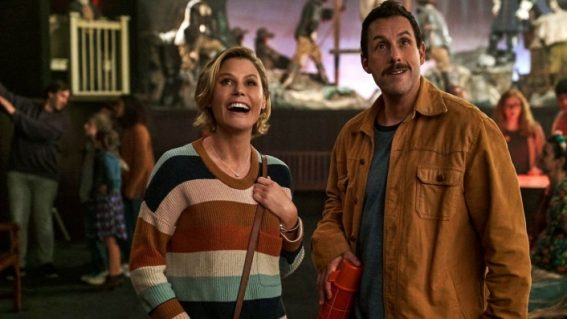 In Hubie Halloween, Adam Sandler again portrays a man-child with a speech impediment