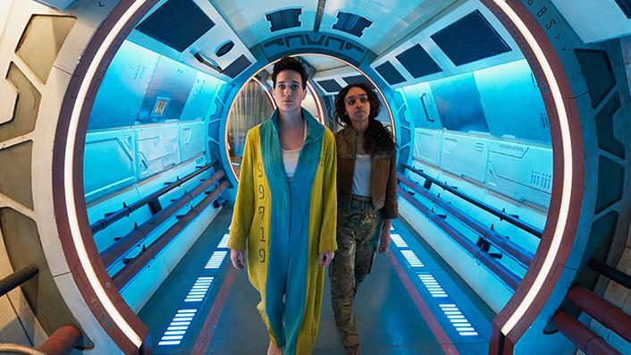Savannah Steyn and Imogen Daines in Intergalactic