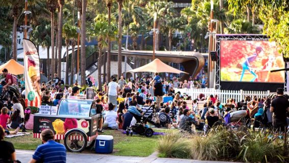 Night Owls brings free movies and live entertainment to Darling Quarter