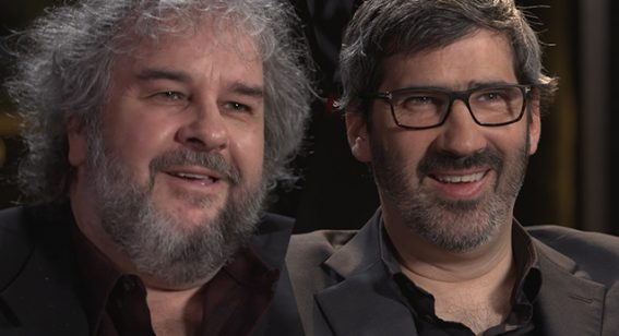 WATCH: Peter Jackson and Christian Rivers talk beards, Brexit & Mortal Engines
