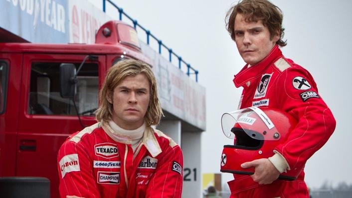 Chris Hemsworth and Daniel Bruhl in Rush