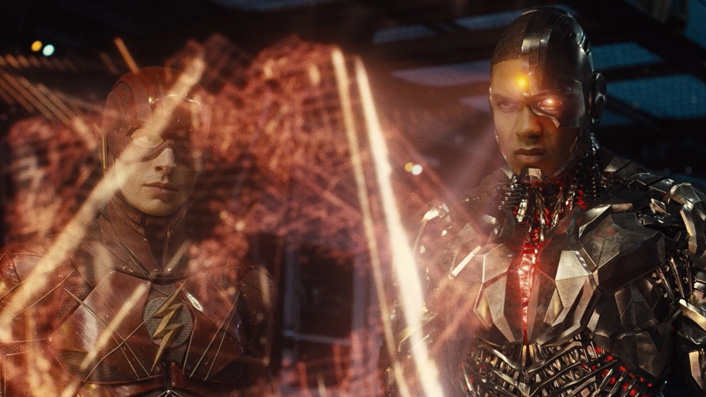 Flash and Cyborg in Zack Snyder's Justice League