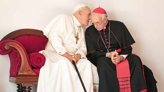 The Two Popes is a superbly acted addition to film and TV's pope-naissance