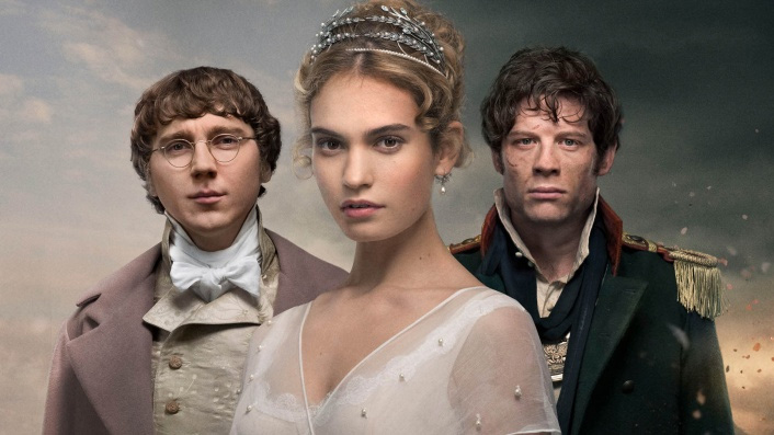 Lily James, Paul Dano and James Norton in War and Peace