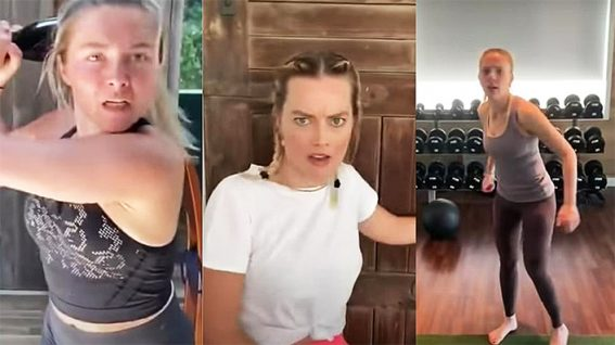 Stuntwoman Zoe Bell kicks quarantine's arse in star-studded 'Boss Bitch Fight Challenge'